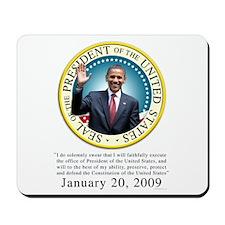 President Obama Oath Mousepad