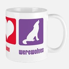 Peace Love Werewolves Mug