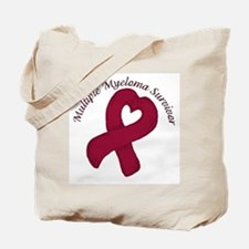 Multiple Myeloma Heart Surviv Tote Bag