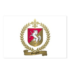 GOUGEON Family Crest Postcards (Package of 8)