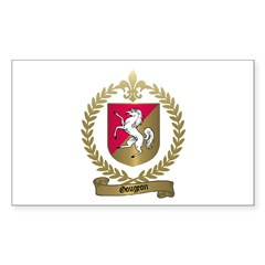 GOUGEON Family Crest Rectangle Decal