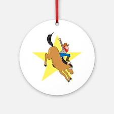 Bronc Rider Ornament (Round)