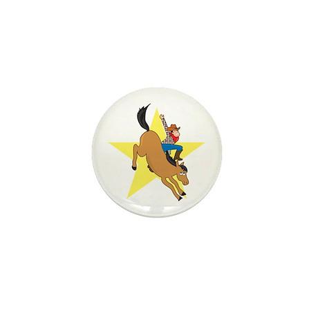 Bronc Rider Mini Button (100 pack)