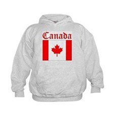Canada (written) Flag Hoodie