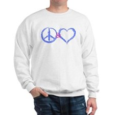 BabyBlue Peace & Heart Sweatshirt