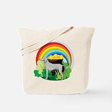 Weimaraner St Patricks Day Tote Bag