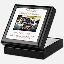Life is like a box of chocola Keepsake Box