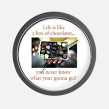 Life is like a box of chocola Wall Clock