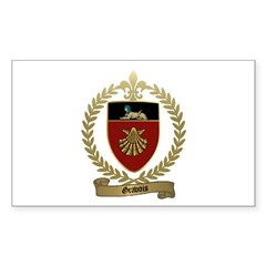 GRAVOIS Family Crest Rectangle Decal