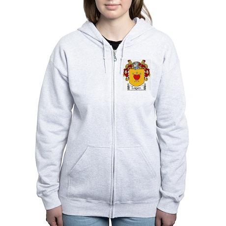 Logan Coat of Arms Women's Zip Hoodie