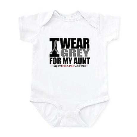 I Wear Grey Aunt Infant Bodysuit