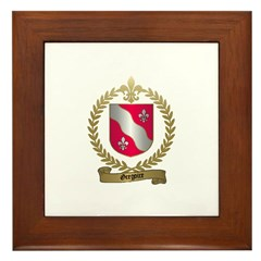 GREGOIRE Family Crest Framed Tile