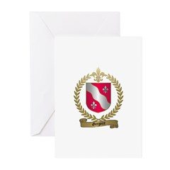 GREGOIRE Family Crest Greeting Cards (Pk of 10
