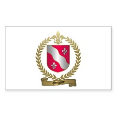 GREGOIRE Family Crest Rectangle Decal