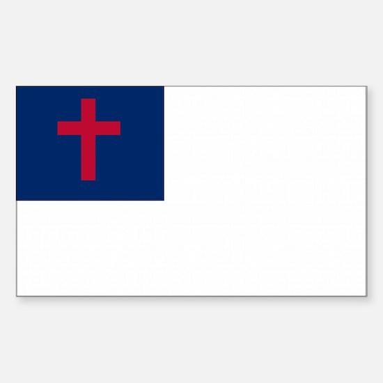 Christian Flag Sticker (Rectangle)