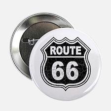 """Rte 66 - blk 2.25"""" Button"""