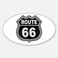 Rte 66 - blk Oval Decal