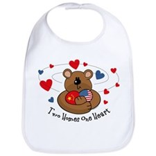 2 Homes 1 Heart China Bib