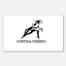 Old School CONTRA-TIEMPO Rectangle Decal