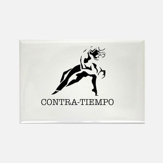 Old School CONTRA-TIEMPO Rectangle Magnet