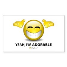 Yeah, I'm Adorable Rectangle Decal