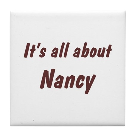 Personalized Nancy Tile Coaster