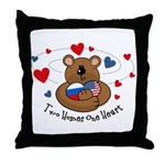 2 Homes1 Heart Russia Throw Pillow