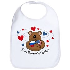 2 Homes1 Heart Russia Bib