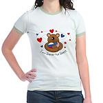 2 Homes1 Heart Russia Jr. Ringer T-Shirt