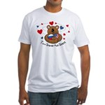 2 Homes1 Heart Russia Fitted T-Shirt