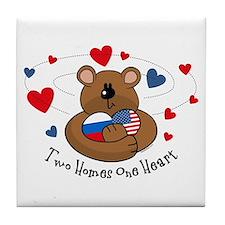 2 Homes1 Heart Russia Tile Coaster