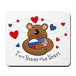 2 Homes1 Heart Russia Mousepad