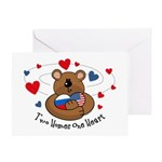 2 Homes1 Heart Russia Greeting Card
