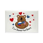 2 Homes1 Heart Russia Rectangle Magnet