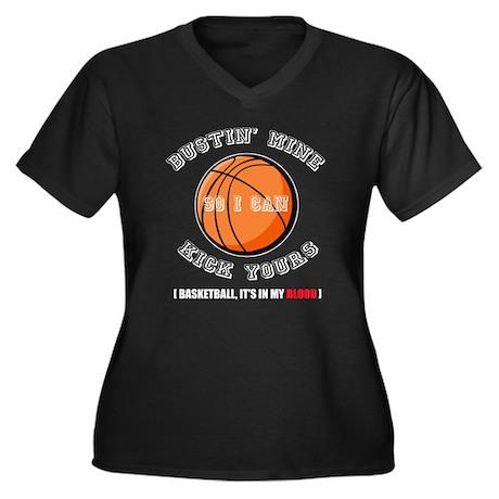 Busting Ass Basketball Women's Plus Size V-Neck Da