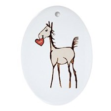 Valentine Horse Oval Ornament