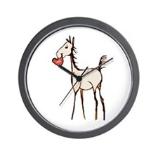 Valentine Horse Wall Clock