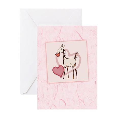 Valentine Horse Greeting Card