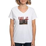 Free J.C. Women's V-Neck T-Shirt