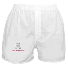 Their There They're Boxer Shorts