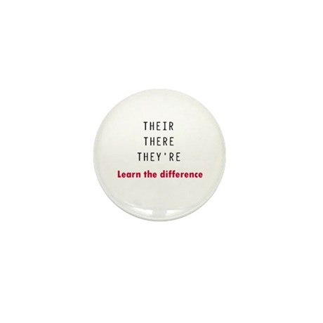 Their There They're Mini Button (10 pack)