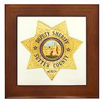 Sutter County Sheriff Framed Tile