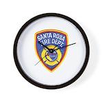 Santa Rosa Fire Wall Clock