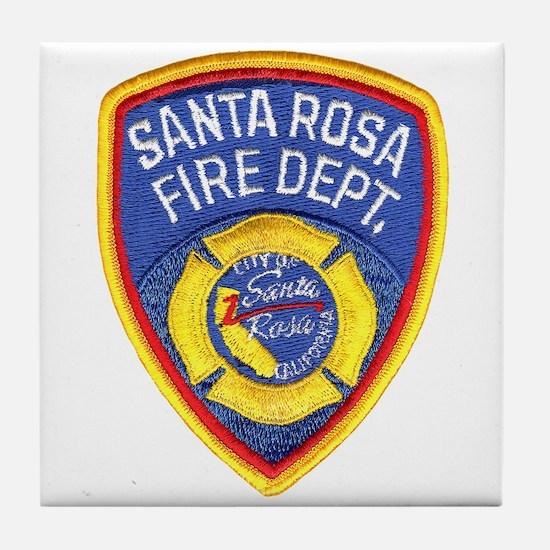 Santa Rosa Fire Tile Coaster