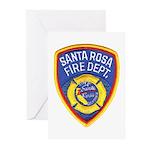 Santa Rosa Fire Greeting Cards (Pk of 10)