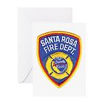 Santa Rosa Fire Greeting Card