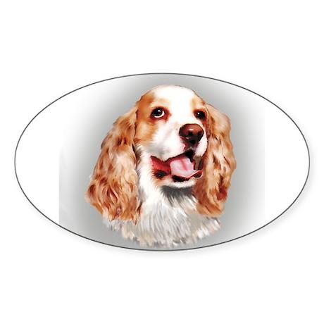 Cocker Spaniel Oval Sticker