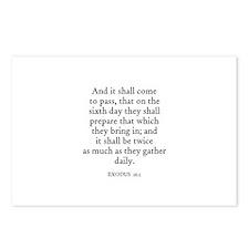 EXODUS  16:5 Postcards (Package of 8)
