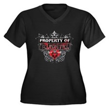 Property of Edward Women's Plus Size V-Neck Dark T