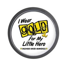 I Wear Gold For My Little Hero 8 Wall Clock